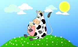 Mucca felice Immagine Stock Libera da Diritti
