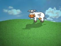 Mucca nel campo illustrazione di stock
