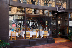 Mucca Osteria Ristorante Italiano. PORTLAND, OR - FEBRUARY 2, 2016: Mucca Osteria Ristorante Italiano, a well known Italian restaurant in downtown PDX Stock Images