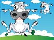 Mucca pazzesca Immagine Stock