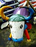 Mucca riciclata Fotografia Stock