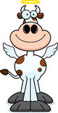 Mucca santa sorridente del fumetto Fotografie Stock Libere da Diritti