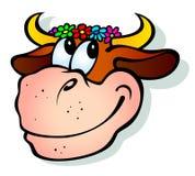 Mucca sorridente Immagini Stock