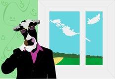 Mucca-sporgenza Fotografia Stock Libera da Diritti