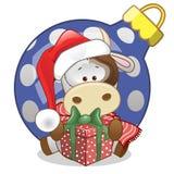 Mucca in un cappello di Santa Fotografia Stock