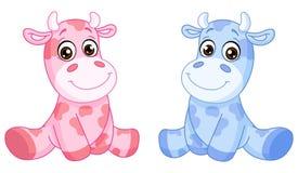 Mucche del bambino Fotografie Stock