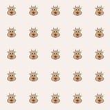 Mucche di Cutie con fondo rosa illustrazione di stock