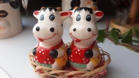 Mucche di Porcelan Fotografia Stock