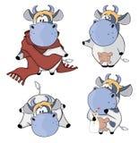 Mucche felici Clipart fumetto Immagine Stock