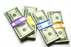 Mucchi dei soldi Immagini Stock Libere da Diritti