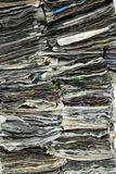 Mucchi del giornale Fotografie Stock