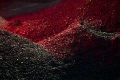 Mucchi della luce del carbone in rosso Fotografia Stock Libera da Diritti