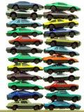 Mucchi delle automobili del giocattolo Fotografia Stock Libera da Diritti