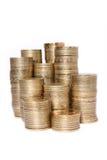 Mucchi delle monete fotografia stock libera da diritti
