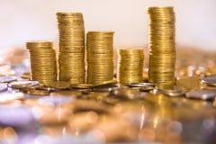 Mucchi delle monete Immagine Stock Libera da Diritti
