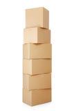 Mucchi delle scatole di cartone Immagine Stock Libera da Diritti