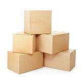 Mucchi delle scatole di cartone Immagini Stock Libere da Diritti