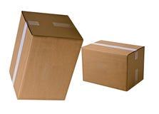 Mucchi delle scatole di cartone Fotografie Stock