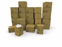 Mucchi delle scatole di cartone royalty illustrazione gratis