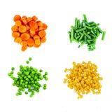 Mucchi delle verdure differenti del taglio Fotografia Stock