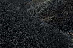 Mucchi di carbone Immagine Stock