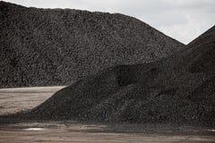 Mucchi di carbone Fotografie Stock Libere da Diritti