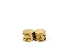 2 mucchi di 20 euro centesimi Fotografie Stock Libere da Diritti