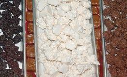 Mucchi di fieno della noce di cocco del cioccolato Fotografie Stock Libere da Diritti