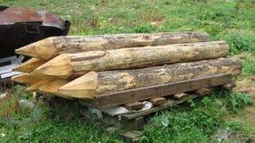 Mucchi di legno Immagini Stock Libere da Diritti