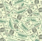 Mucchi di soldi Fotografie Stock