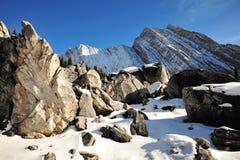 Mucchi e montagne della roccia Immagini Stock