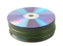Mucchio CD in bianco Fotografie Stock