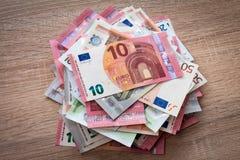Mucchio degli euro Fotografia Stock