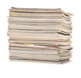 Mucchio degli scomparti variopinti Fotografie Stock