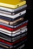 Mucchio degli smartphones Immagine Stock