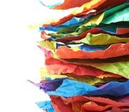 Mucchio degli strati di carta sgualciti isolati Immagini Stock Libere da Diritti