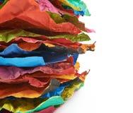 Mucchio degli strati di carta sgualciti isolati Fotografia Stock Libera da Diritti