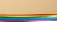 Mucchio degli strati variopinti A4 Fotografia Stock