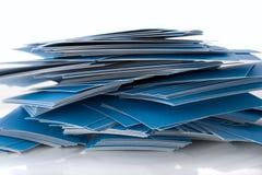 Mucchio dei biglietti da visita blu Fotografia Stock Libera da Diritti