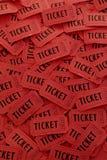 Mucchio dei biglietti rossi Fotografia Stock Libera da Diritti