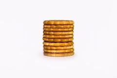 Mucchio dei biscotti dorati Fotografie Stock Libere da Diritti