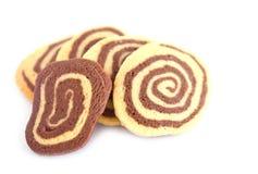 Mucchio dei biscotti a strisce deliziosi   fotografia stock libera da diritti