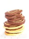 Mucchio dei biscotti a strisce deliziosi   Immagini Stock
