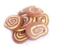 Mucchio dei biscotti a strisce deliziosi   Immagine Stock Libera da Diritti