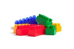 Mucchio dei blocchetti variopinti del giocattolo Immagine Stock Libera da Diritti