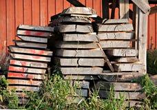 Mucchio dei bordi di legno Fotografia Stock Libera da Diritti
