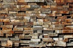 Mucchio dei bordi di legno impilati Fotografie Stock