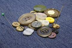 Mucchio dei bottoni Fotografie Stock
