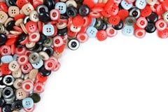 Mucchio dei bottoni di cucito Fotografie Stock