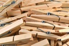 Clothespins di legno. fotografia stock libera da diritti